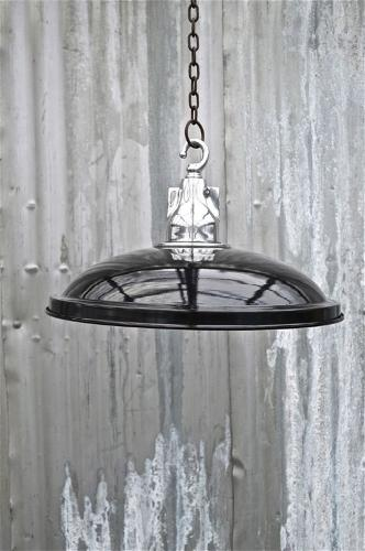 FUNKY VINTAGE STYLE BLACK UFO HANGING CEILING LIGHT SHADE