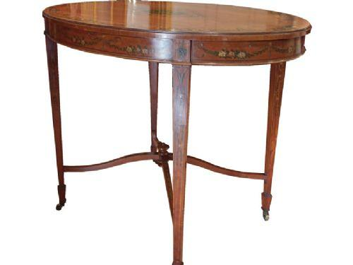 Sheraton revival inlaid Center Table