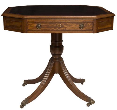 Antique Maple & Co Drum Table