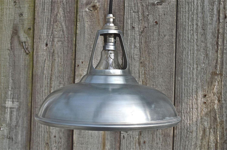 Vintage white zinc coolicon ceiling light