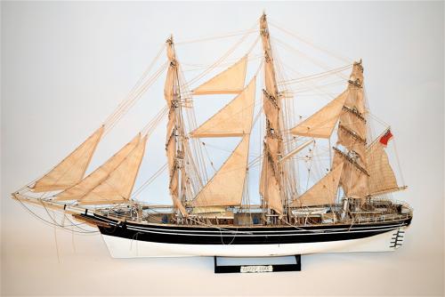 A scratch built model sailing ship