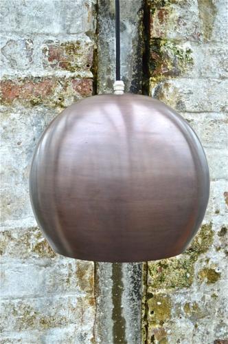 Danish style copper ball ceiling light