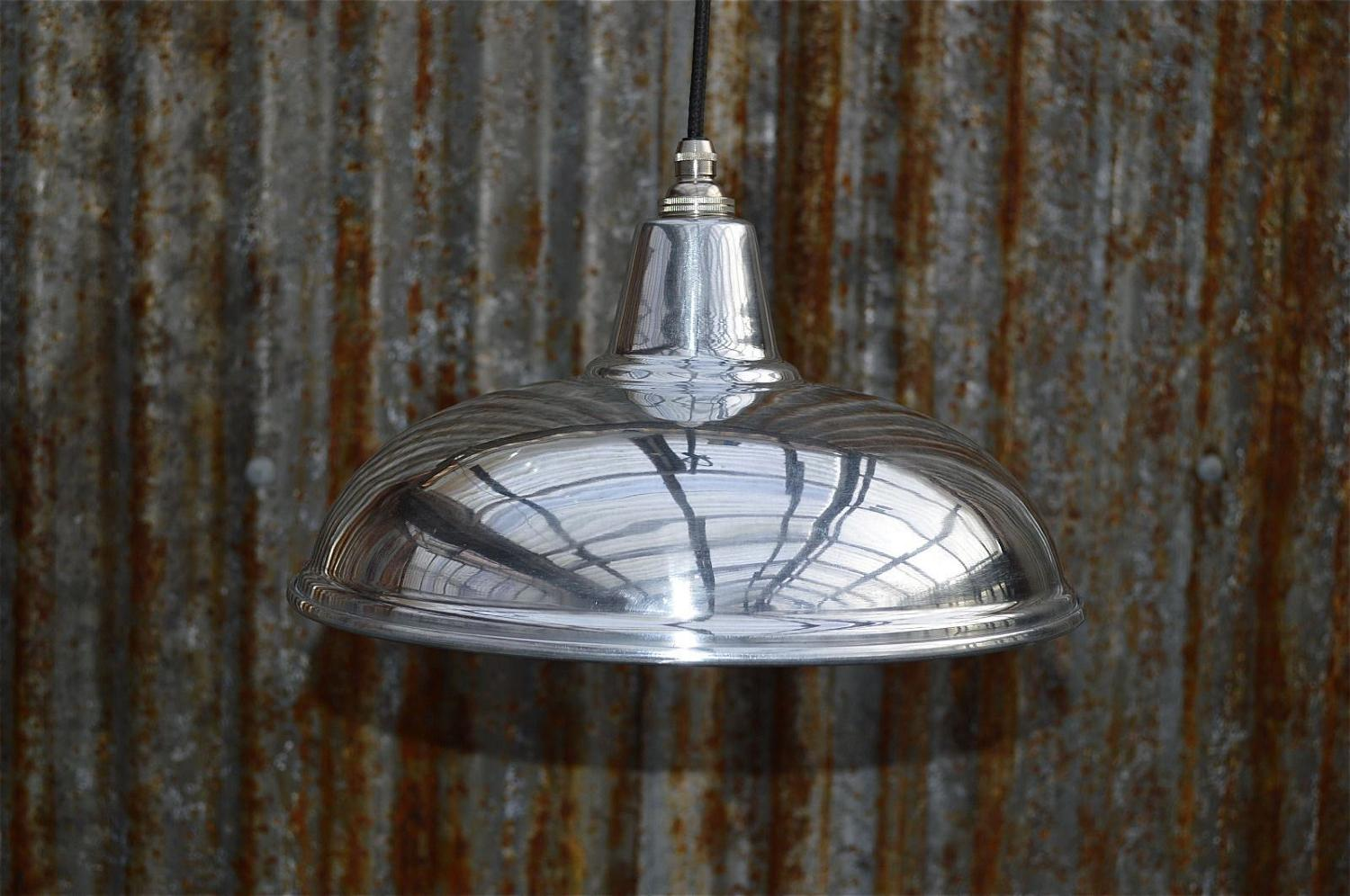 Polished metal ceiling light