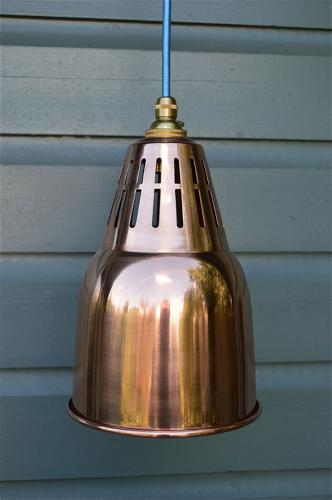 Solid copper vented hanging pendant