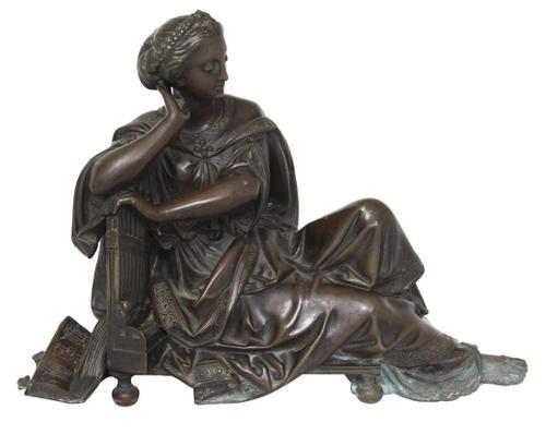 A 19th C bronze statue