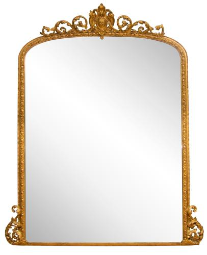 An English Antique gilded overmantle mirror