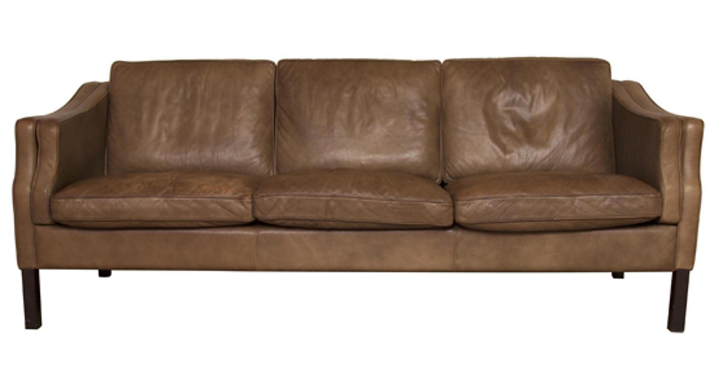 Vintage Danish Stouby Leather Sofa