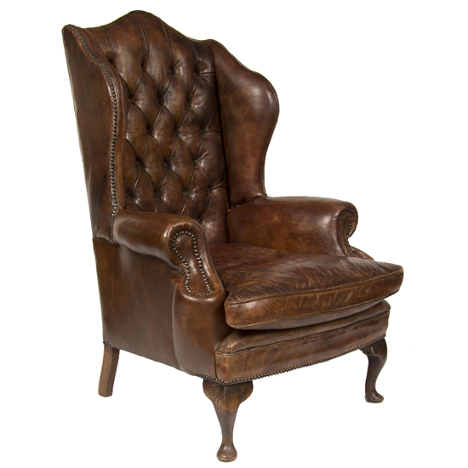 A Gentleman's Leather wing chair