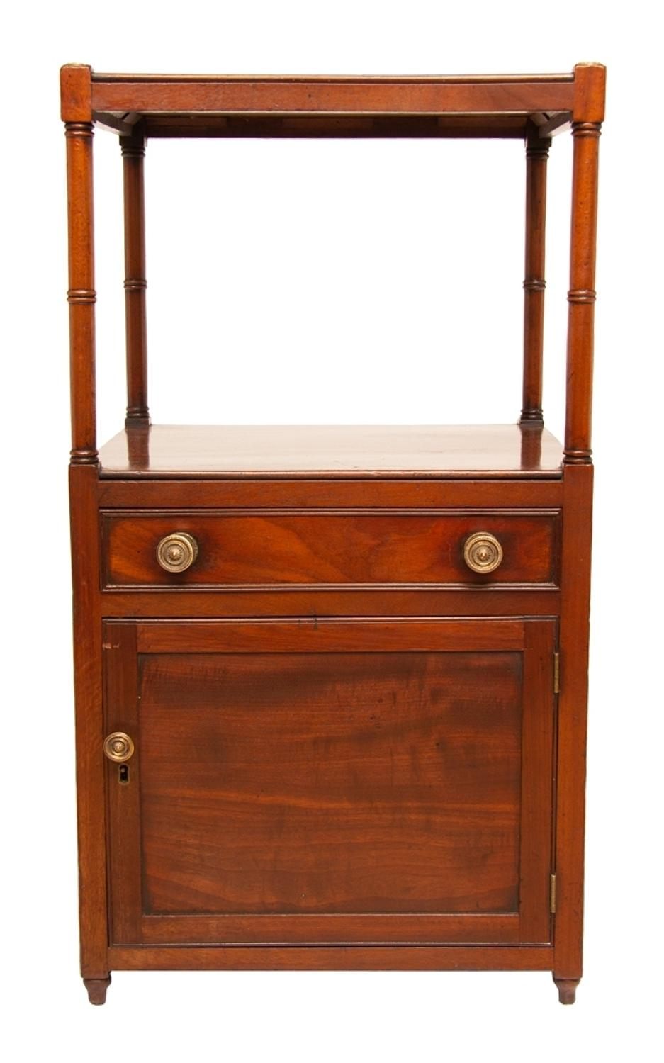 Early Georgian Mahogany Washstand with Drawer