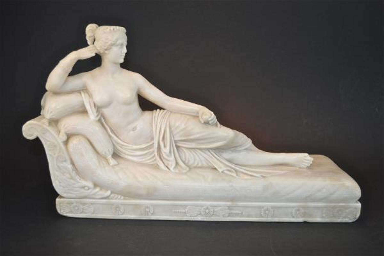 Alabaster 19th century figure