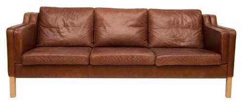 A borge Mogensen 3 seater leather sofa