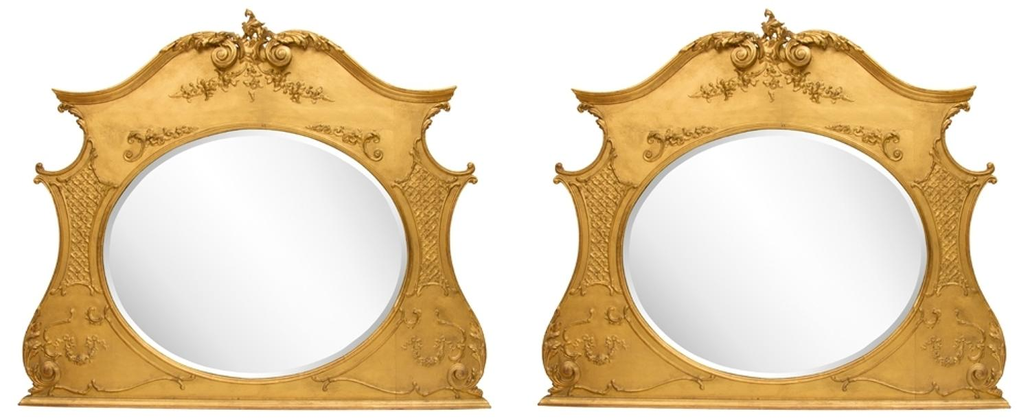 A Pair of Adams style Victorian mirrors