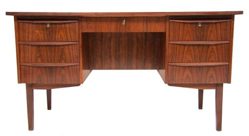 A Danish 1960,s rosewood desk fully re polished