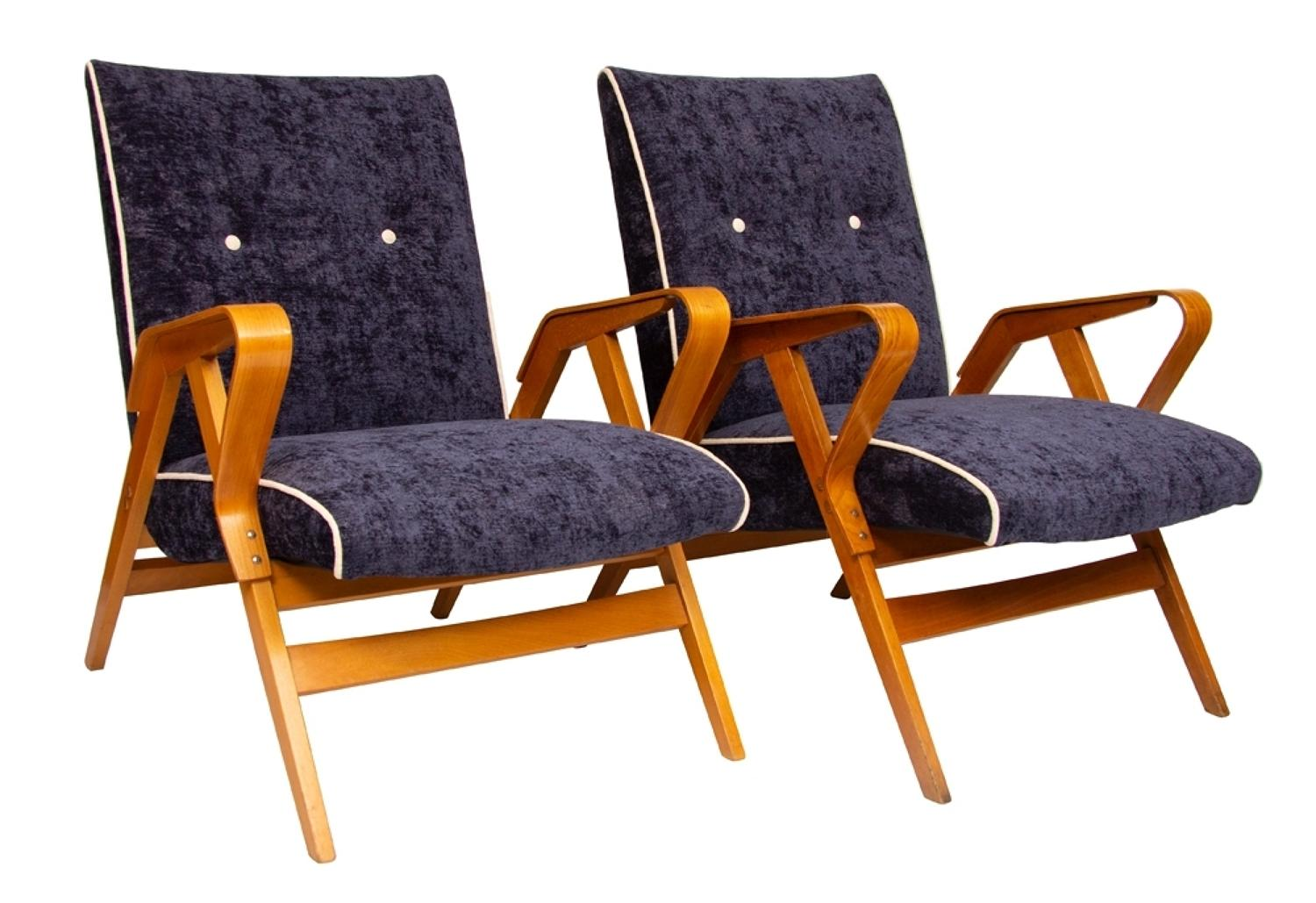 A pair of Jindrich Halabala armchairs