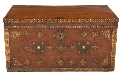A studded military campaign chest