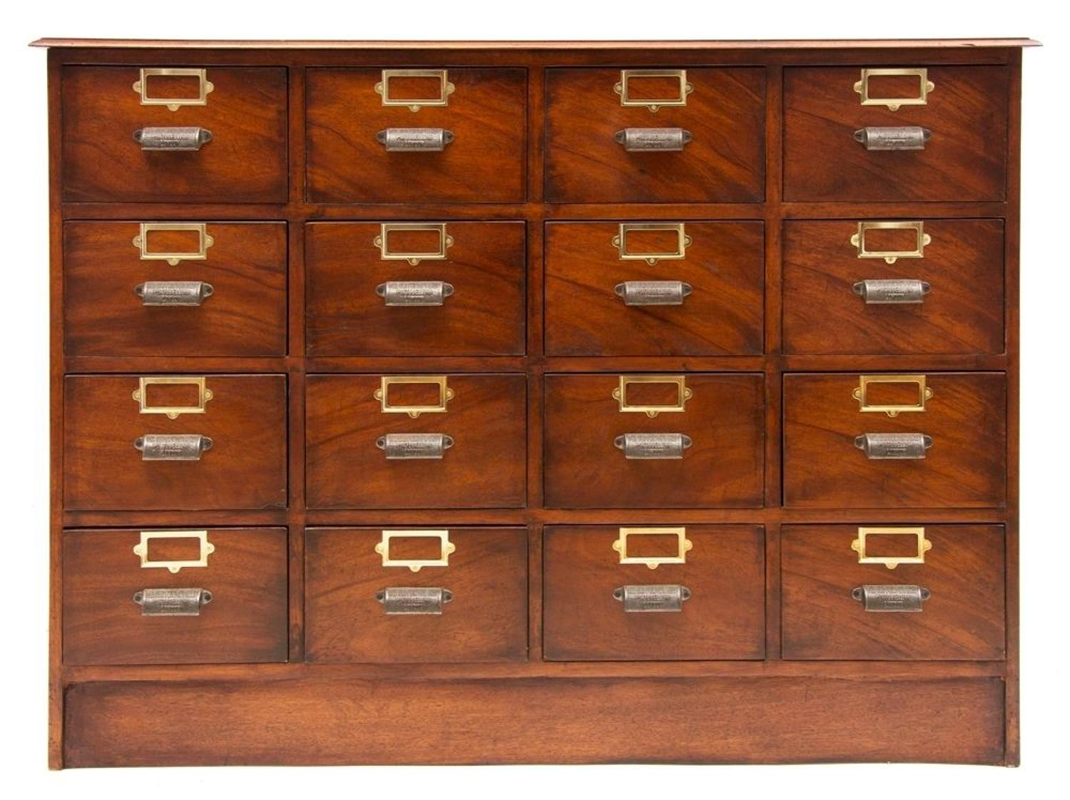 Mahogany Haberdashers Bank of Drawers