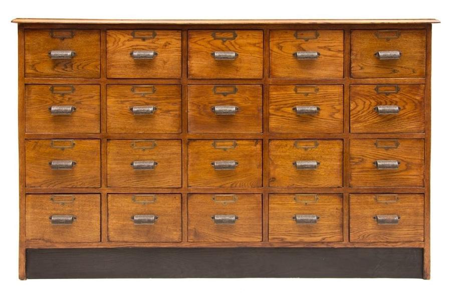 Oak Haberdashers Bank of Drawers Drawers