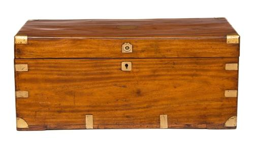 19th Century Camphor Wood Trunk
