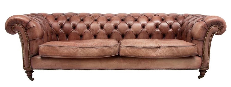 Victorian Leather Sofa