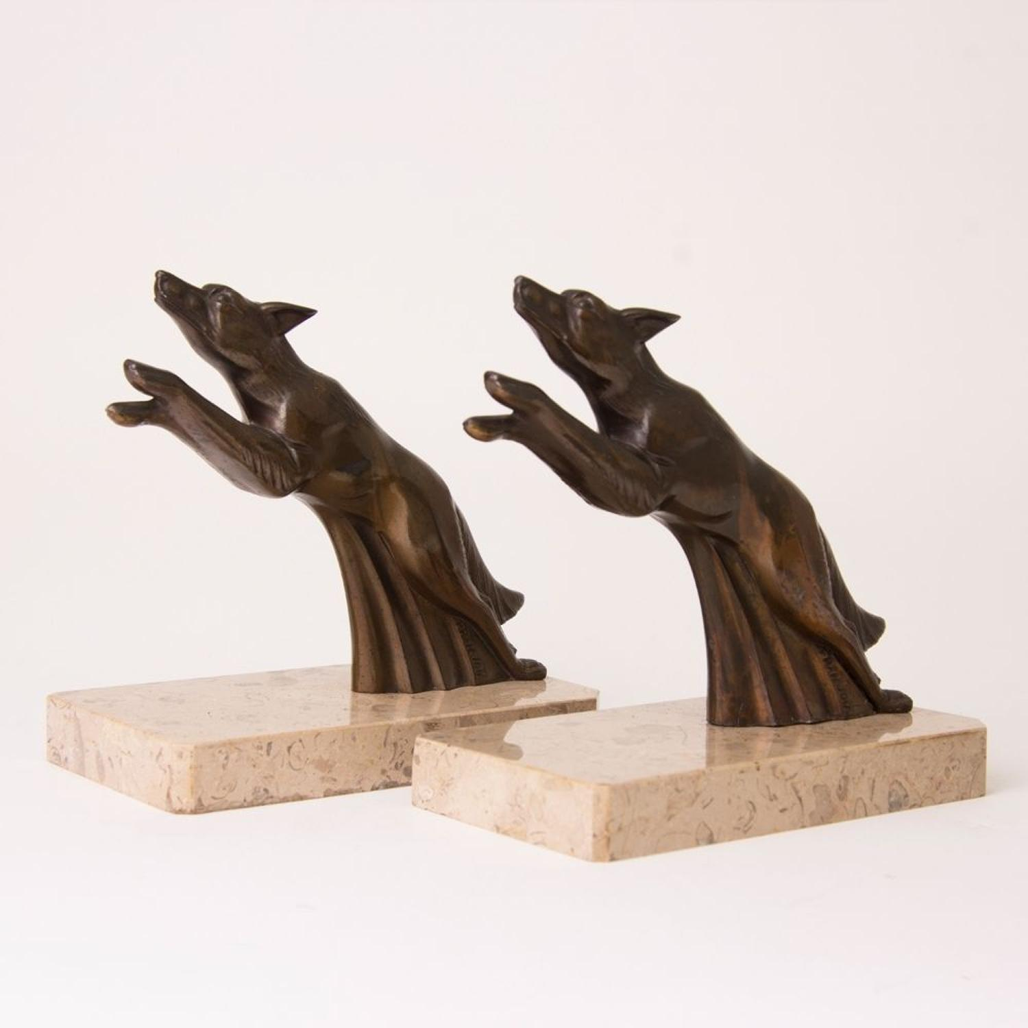 Pair of 1920's Art Deco Bookends