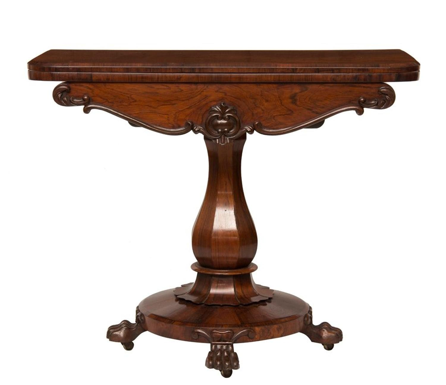 William IV Card Table in Rosewood, c.1830