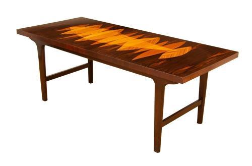Dutch Macassar Ebony & Specimen Wood Inlay table