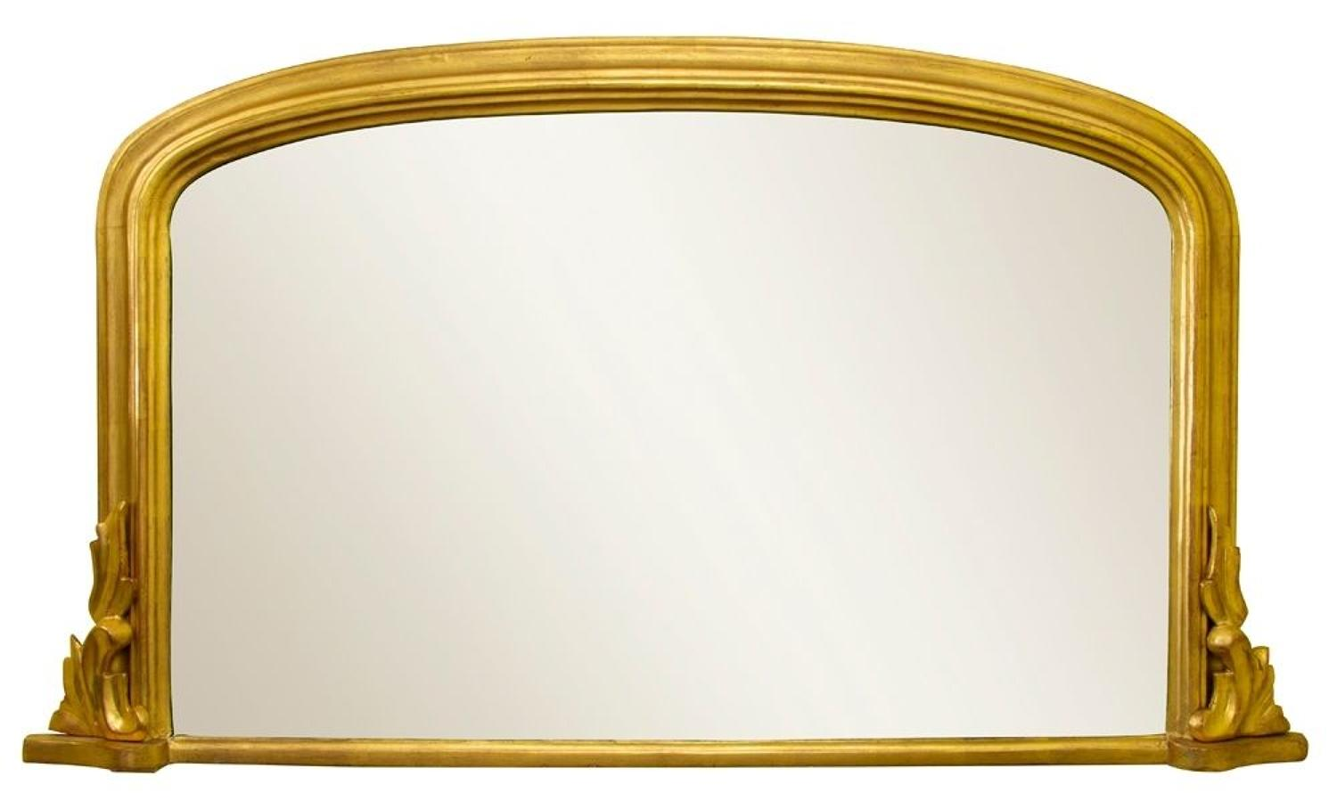 A small Victorian Overmantle Mirror