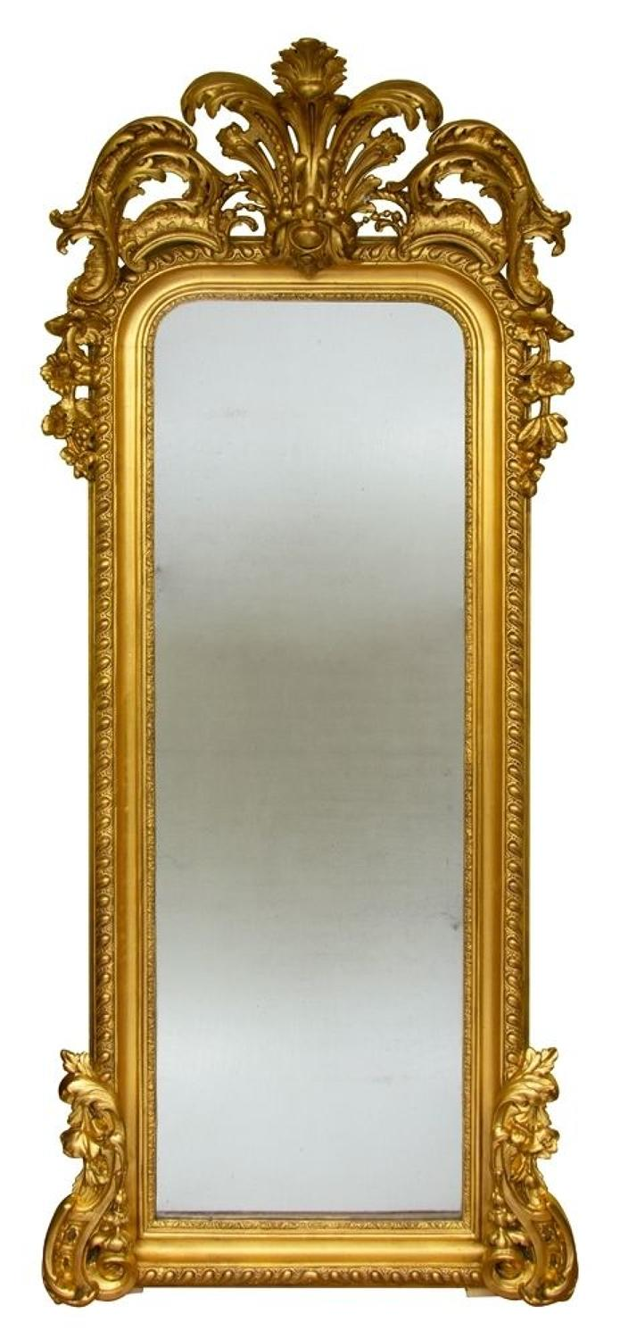 Antique Mercury Plate pier Mirror
