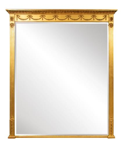 English Overmantle Mirror