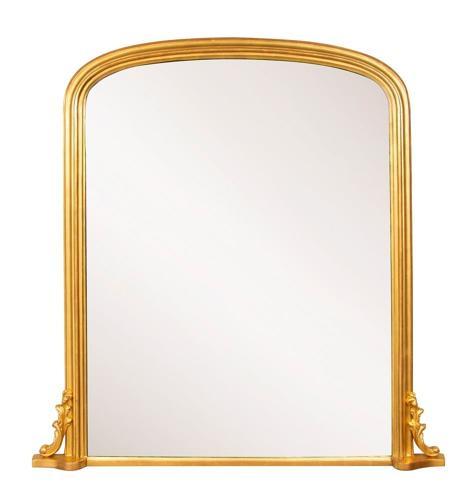 English Antique Overmantle Mirror c.1860
