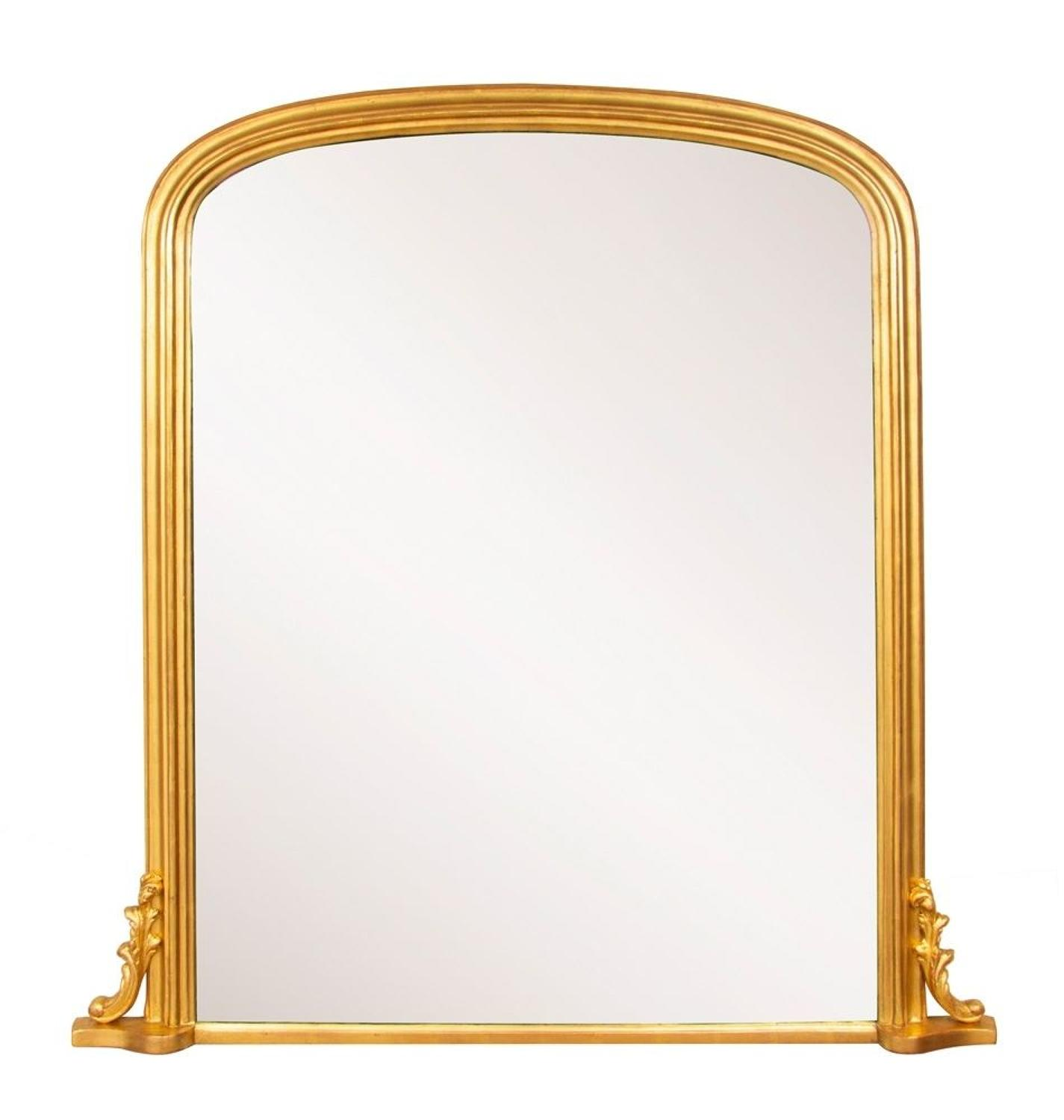 English Antique Overmantle Mirror c.1860