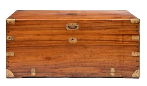 Camphor Wood Military Trunk c.1850