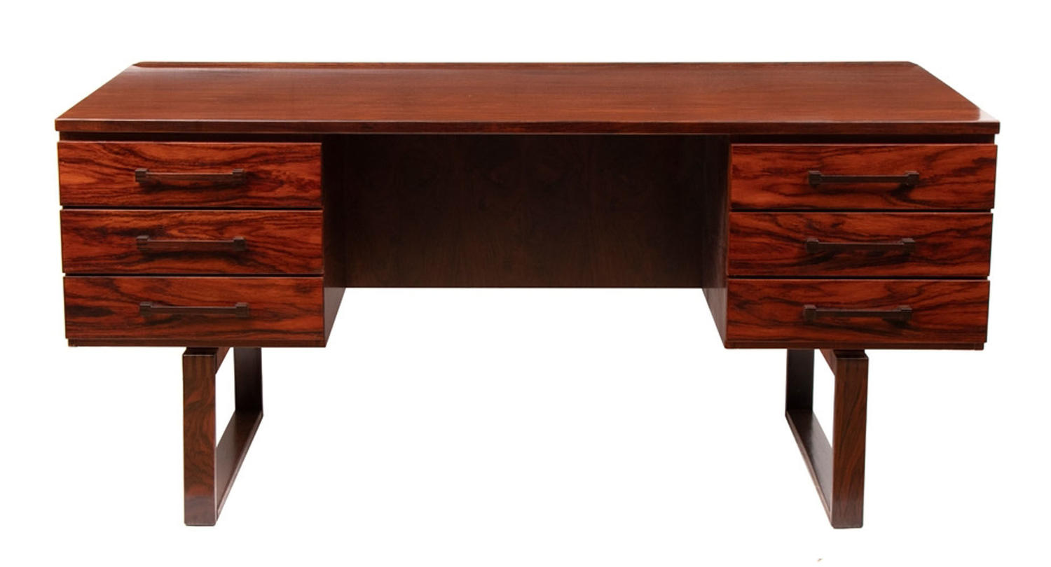 Danish Midcentury Desk by Jensen & Valeur for Munch Mobler c.1960
