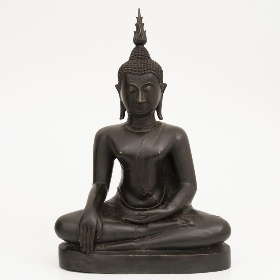 A Large Tibetan Bronze Buddha