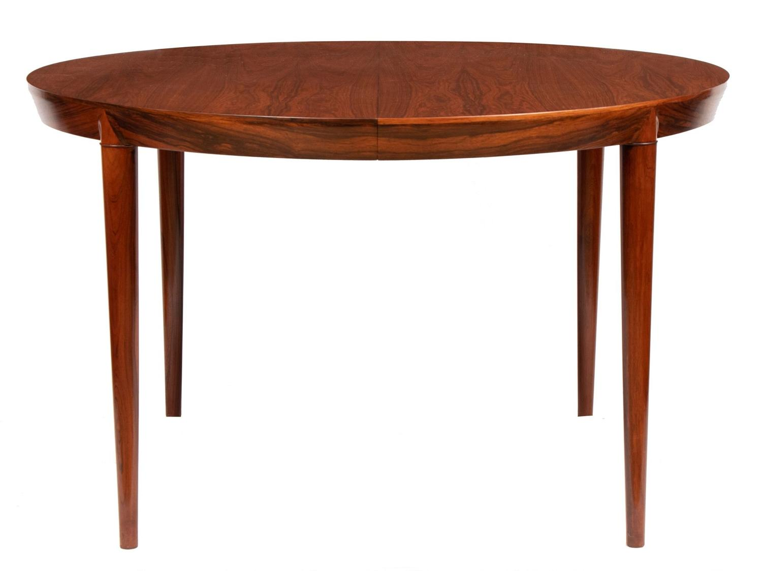 Rosewood Extending Dining Table by Haslev Mobel c.1970