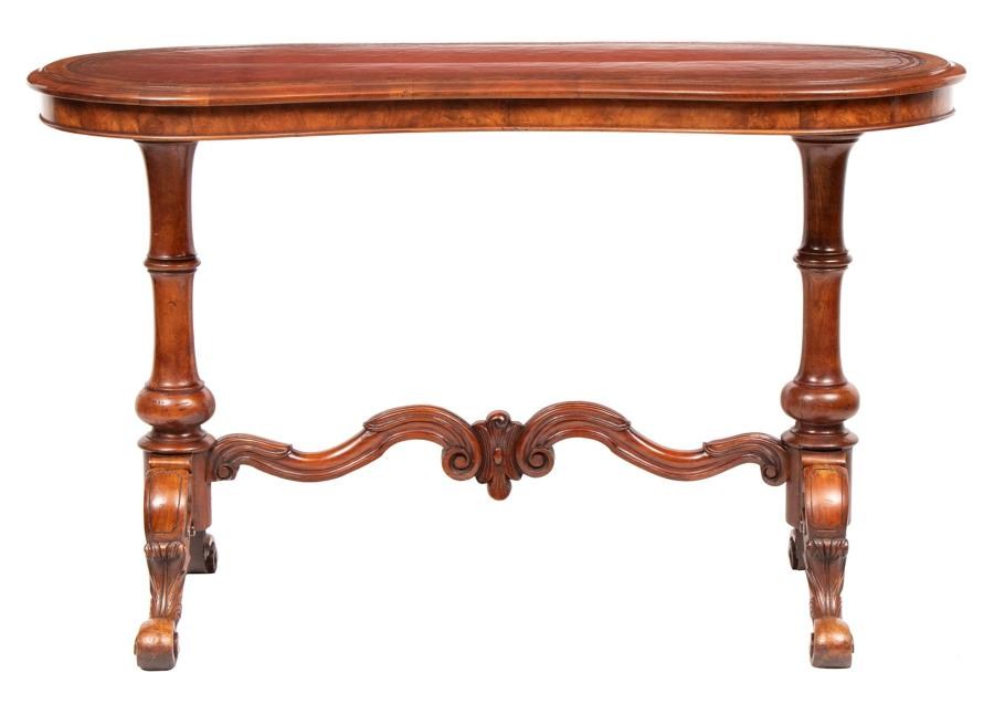 19th Century Walnut Kidney Shaped Writing Desk
