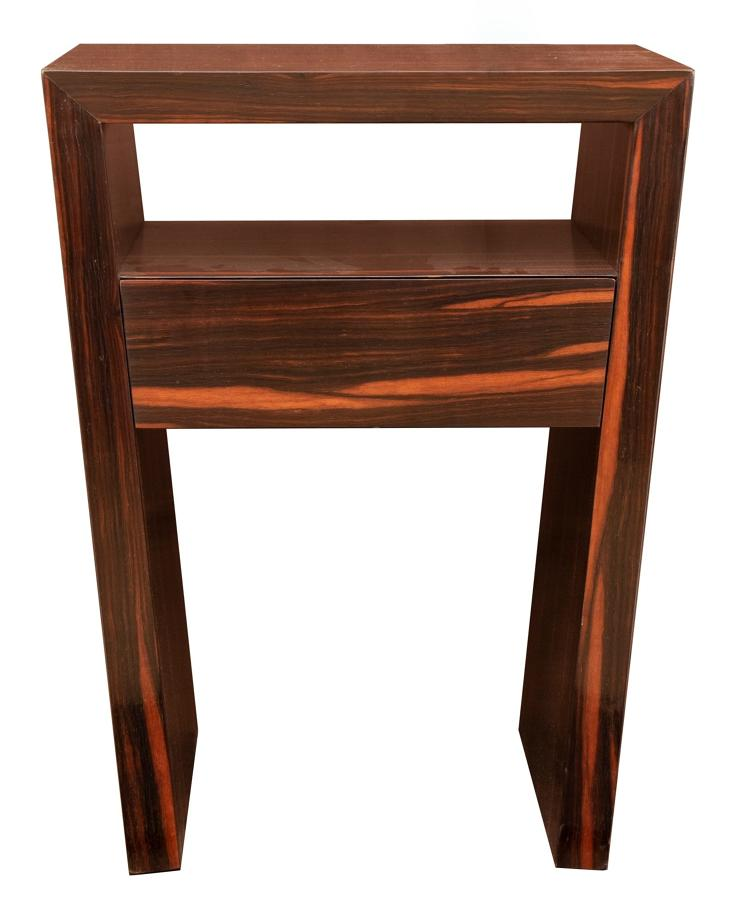 Midcentury Modern Macassar Ebony Side Table