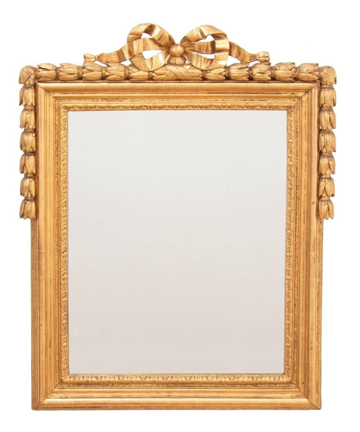 Antique French Louis XVI Giltwood Mirror