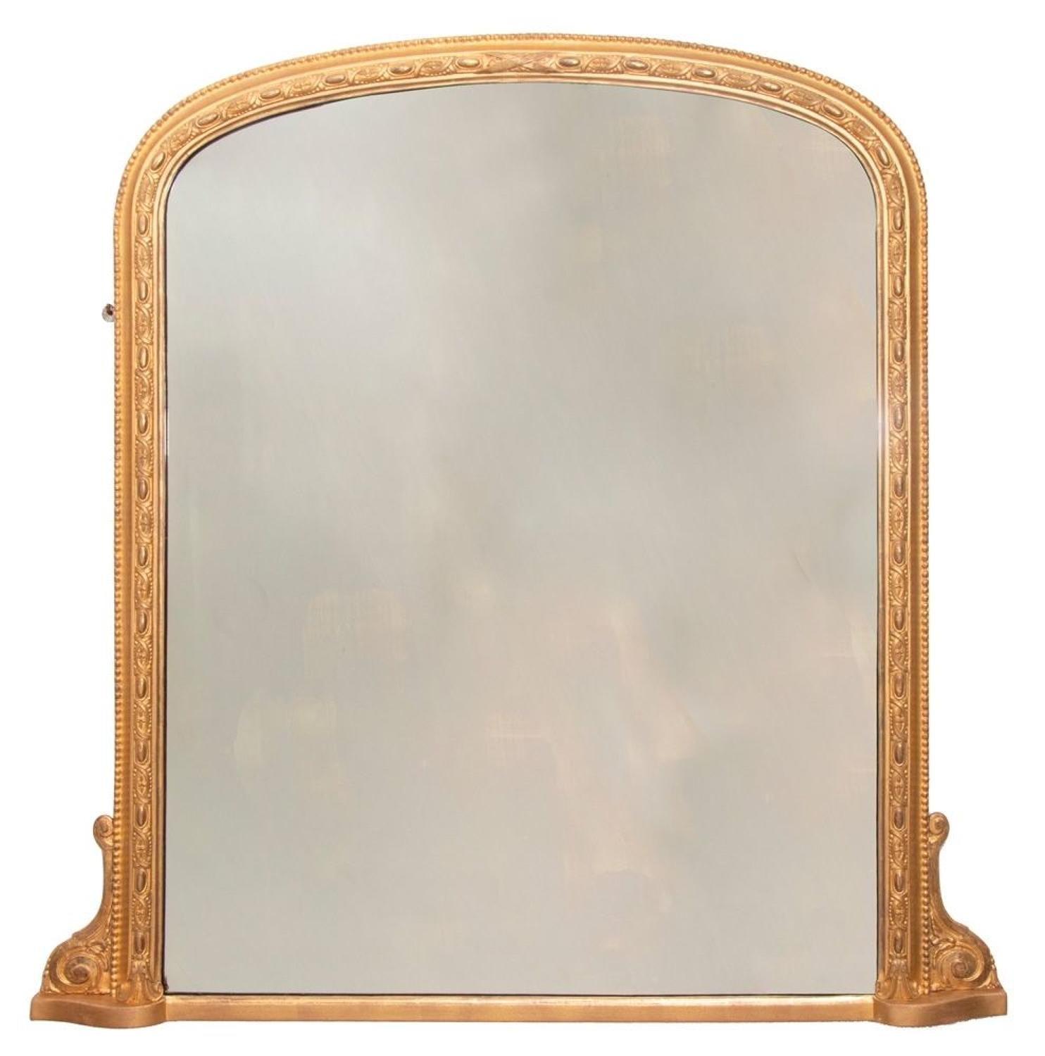 English Antique Giltwood Mirror c.1890