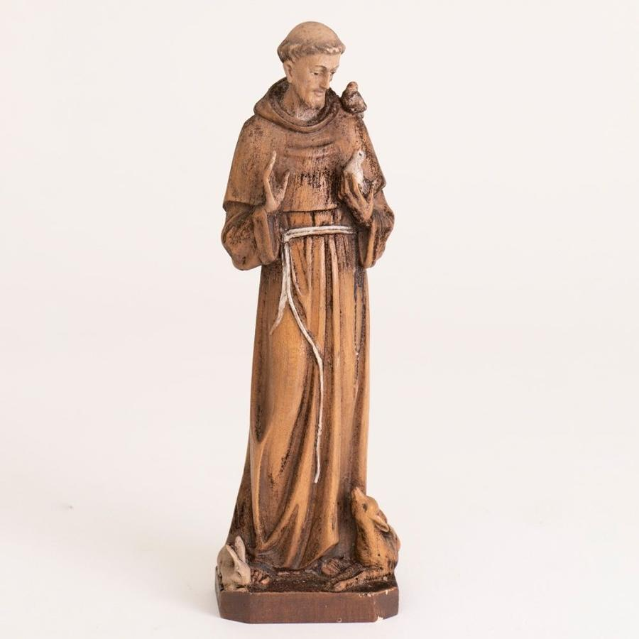 Early 19th Century Carved St Francis of Assisi Statue