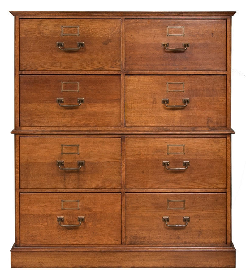 Vintage oak haberdashers Bank of Drawers