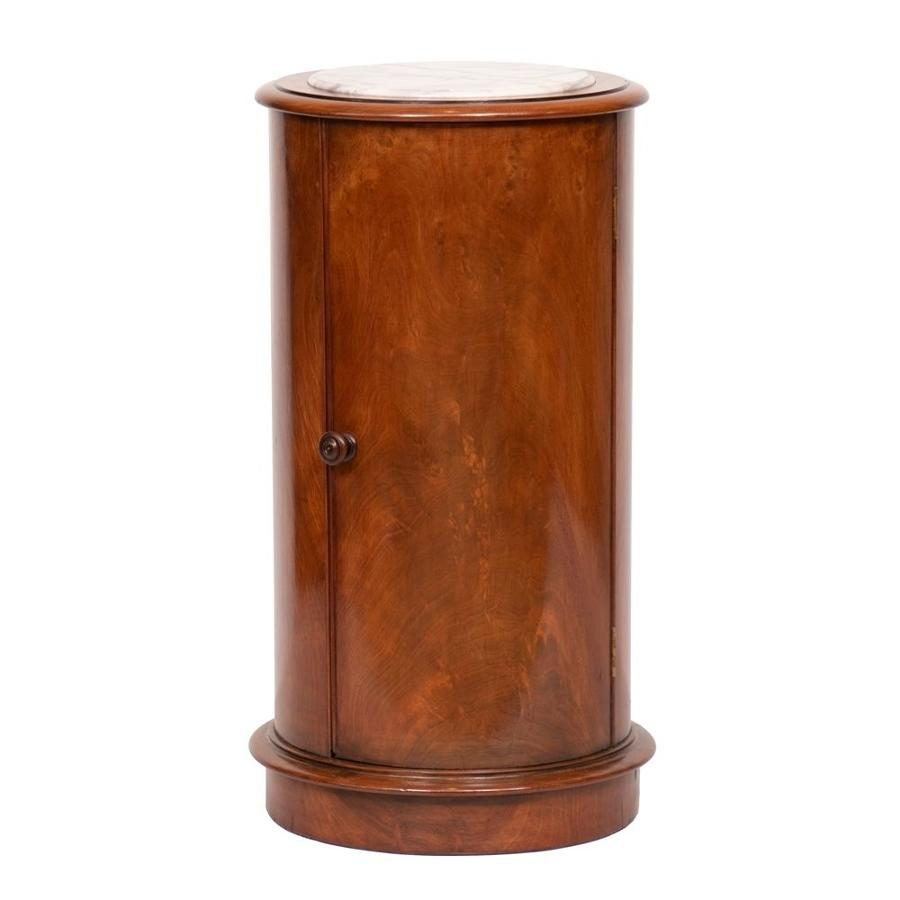 Victorian Mahogany Cylinder Side Table or bedside