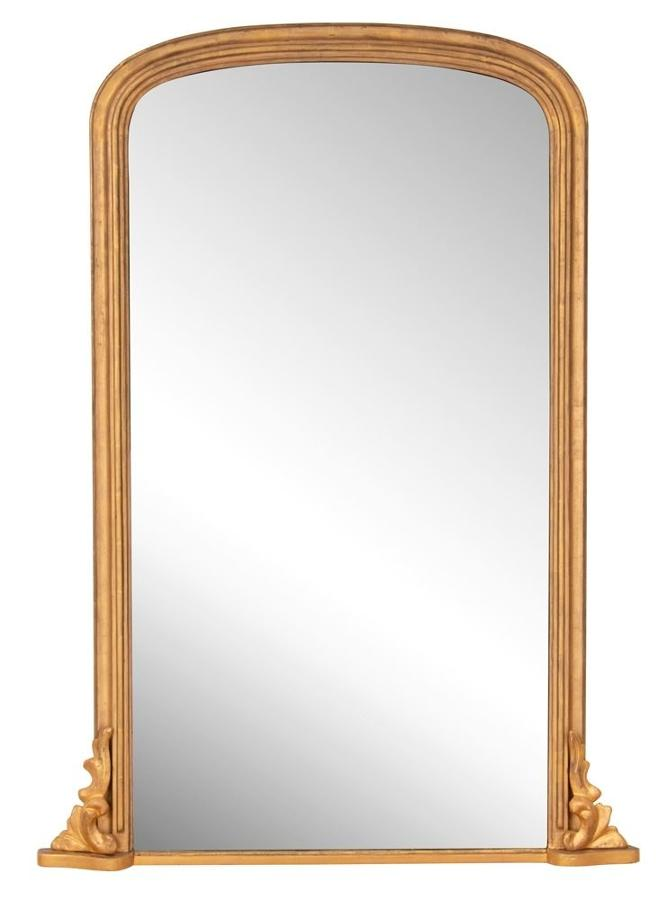 Antique English Gilded Overmantle Mirror