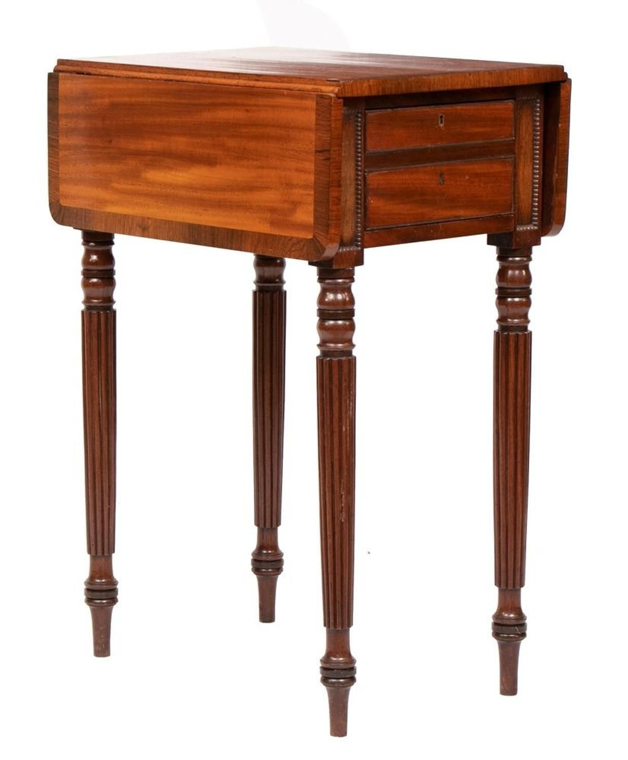 Antique Mahogany & Rosewood Gillows Side Table c.1820