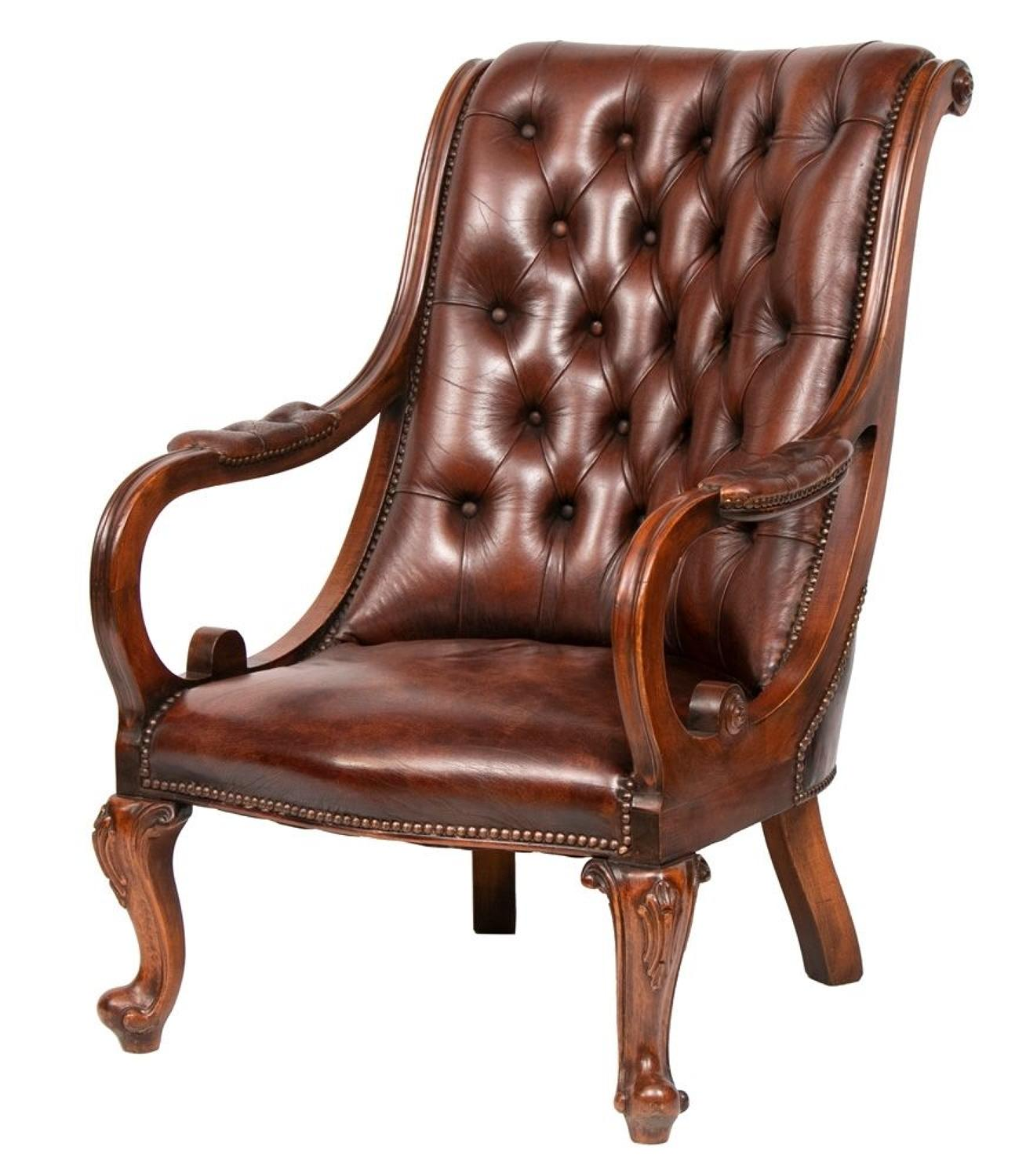 Vintage Brown Leather Armchair