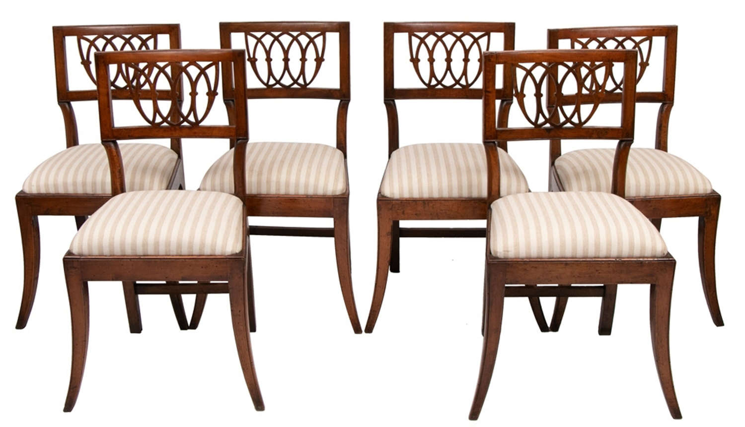 Set of 6 Antique French Cherrywood Dining Chairs c.1800
