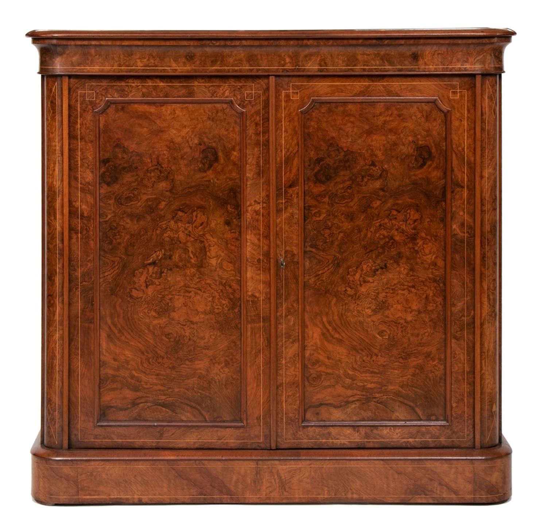 Antique Walnut Credenza Cabinet c.1840