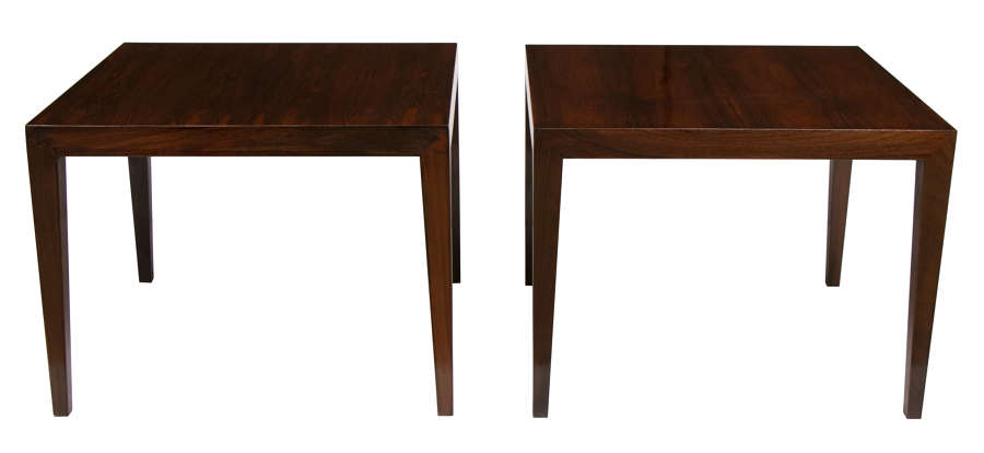 Severin Hansen pair of rosewood side tables