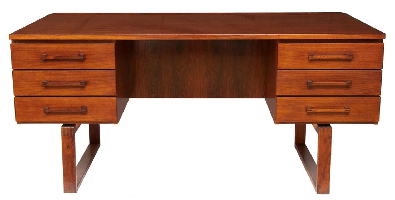 Midcentury Rosewood Desk by Torben Valuer & Henning Jensen