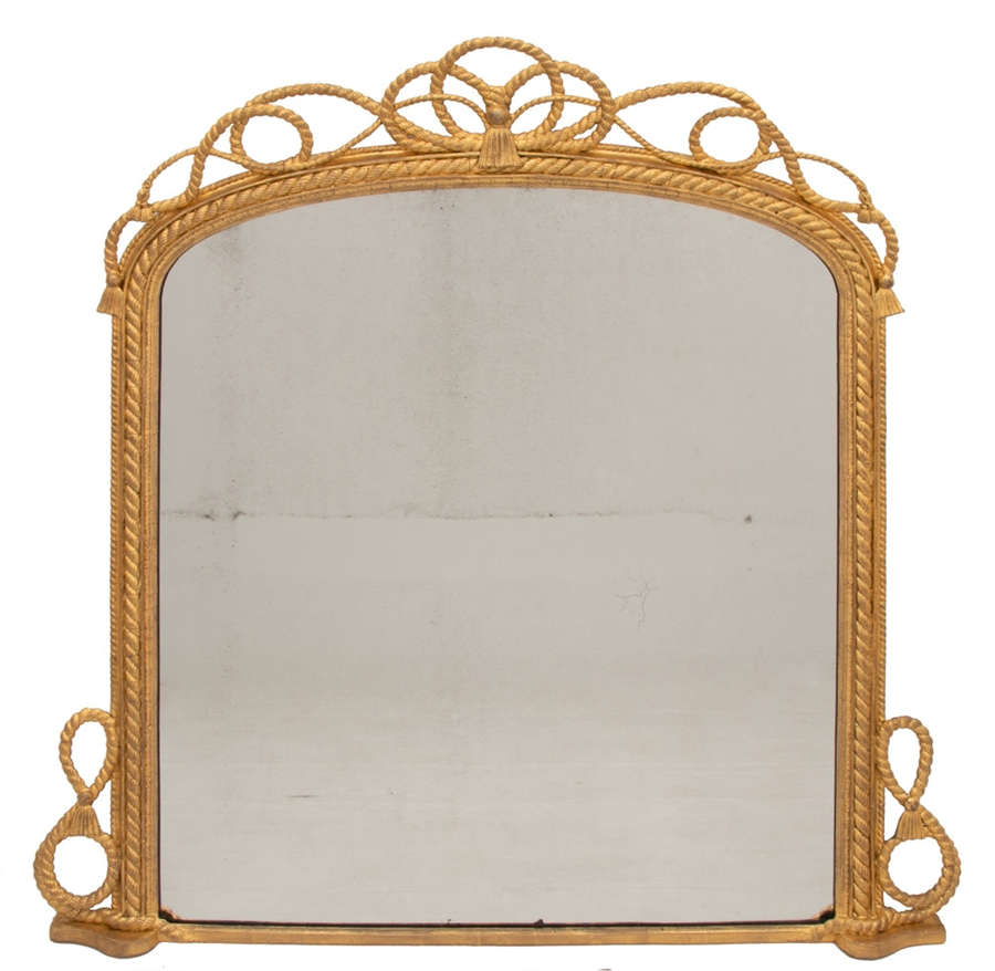 Antique Maritime Gilded Mirror c.1840
